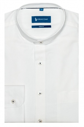 Camasa culoare alb cu guler tunica pentru barbati