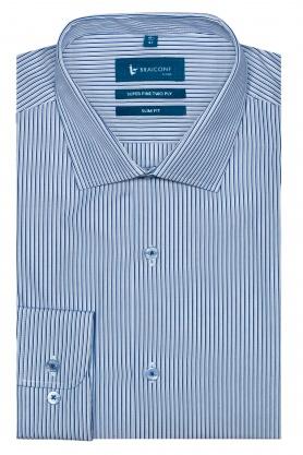 Camasa business pentru barbati bleu din bumbac