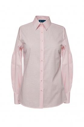 Bluza de dama alba cu desene rosii