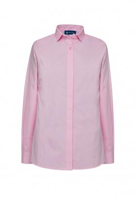 Bluza dama roz cu maneca lunga