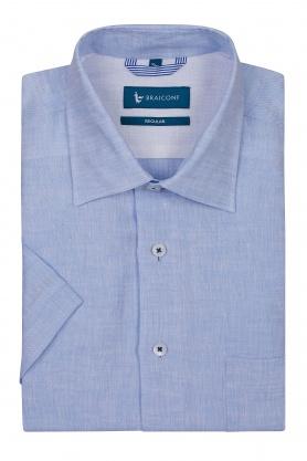 Camasa clasica bleu din in
