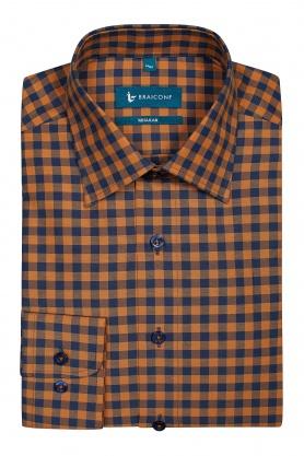Camasa culoare bleumarin cu carouri pentru barbati