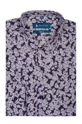 Camasa slim fit cu print floral pentru barbati
