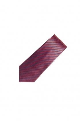 Cravata rosie in dungi