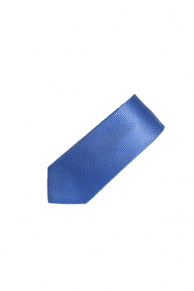 Cravata bleu cu picouri albe
