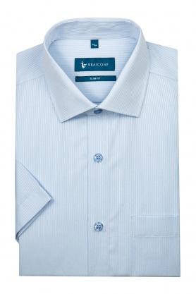 Camasa bleu in dungi albe pentru barbati