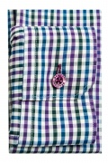 Camasa casual croita cu tipar extracambrat, din tesatura de bumbac cu carouri colorate