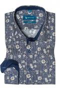 Camasa casual croita cu tipar clasic, din tesatura de bumbac imprimat,cu motive florale