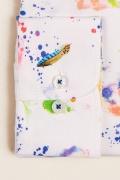 Camasa print din bumbac clasic, maneca lunga