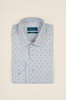 Casual & confortabil - Camasa cu print modern, maneca lunga -100% bumbac
