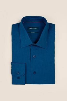 Casual & confortabil camasa uni, maneca lunga -100% in