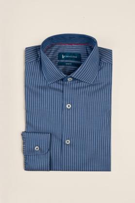 Casual & confortabil - Camasa cu print, maneca lunga, 100% bumbac