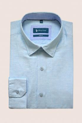 Casual & confortabil - Camasa cu print, maneca lunga, 35% BUMBAC+IN 65%