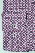 Casual & confortabil camasa cu print, maneca lunga - 97% bumbac+ 3% elastan